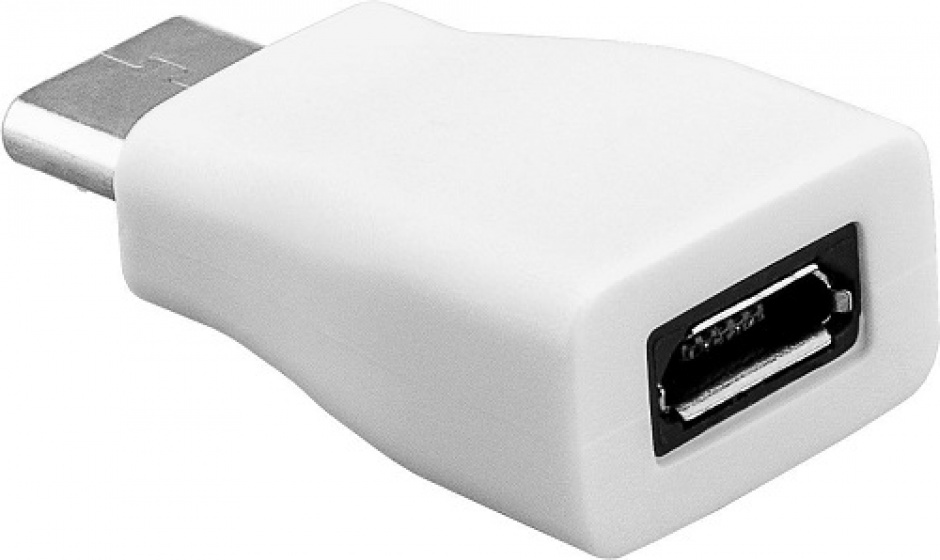 Imagine Adaptor USB-C la micro USB-B T-M Alb, Goobay 71398