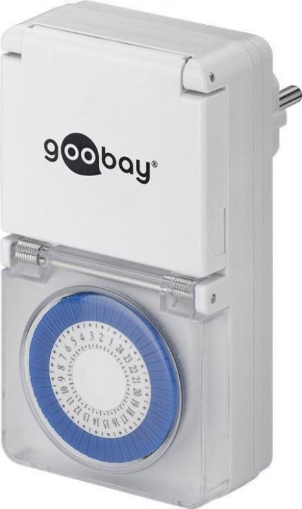 Imagine Priza programabila mecanica pentru exterior, Goobay 73289