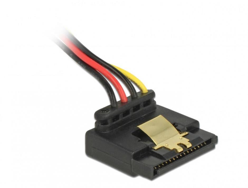 Imagine Cablu alimentare SATA unghi 90 grade la Floppy 4 pini 30cm, Delock 85511 -2