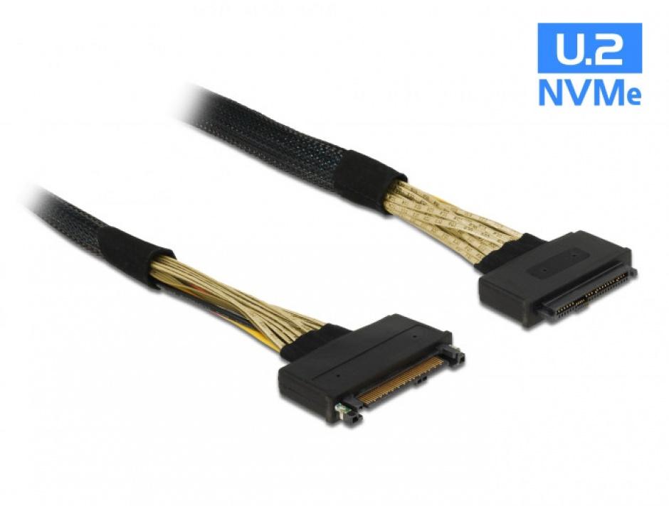Imagine Cablu prelungitor U.2 SFF-8639 T-M 0.5m, Delock 85738