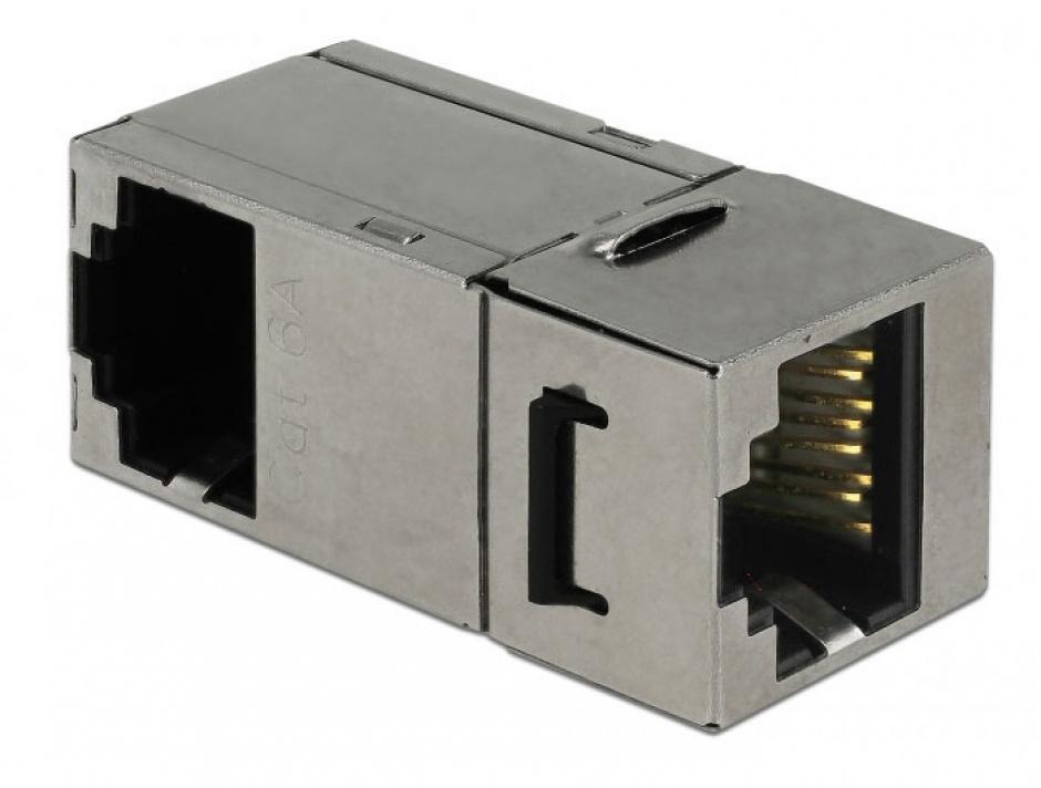 Imagine Modul keystone RJ45 cat 6 unghi 90 grade, Delock 86371-1