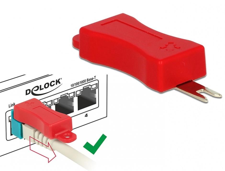 Imagine Set 60 buc Clips pentru securizarea mufei RJ45, Delock 86446-1