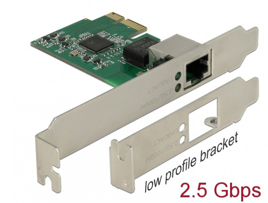 Imagine PCI Express cu un port 2.5 Gigabit LAN, Delock 89531