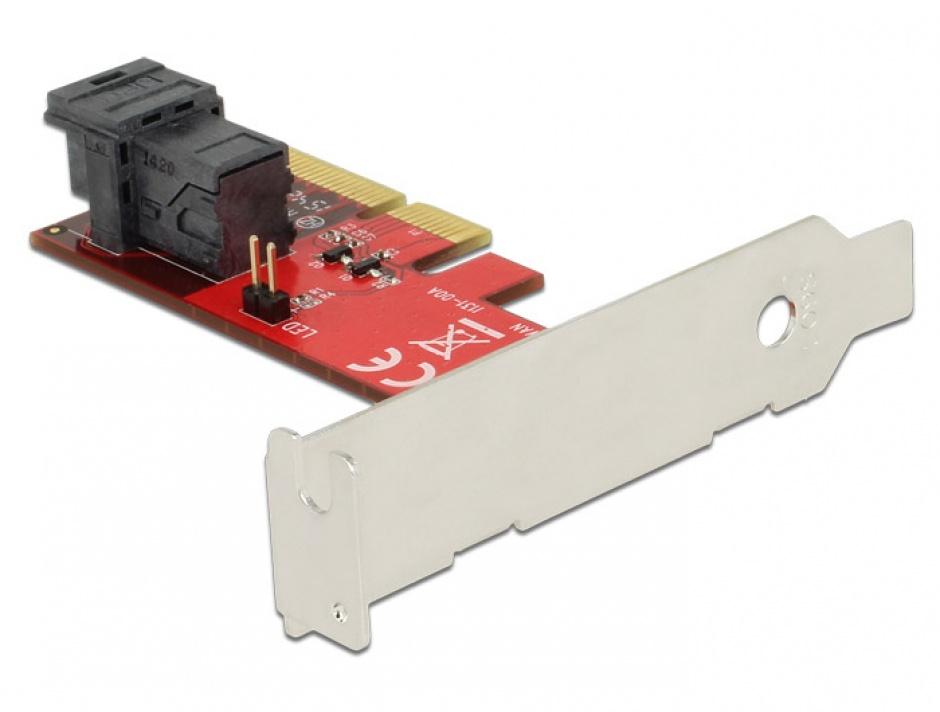 Imagine PCI Express cu 1 port SFF-8643 NVMe LPFF, Delock 89535-2