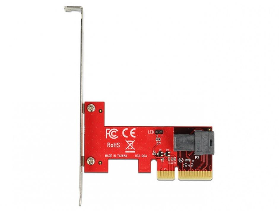 Imagine PCI Express cu 1 port SFF-8643 NVMe LPFF, Delock 89535-3