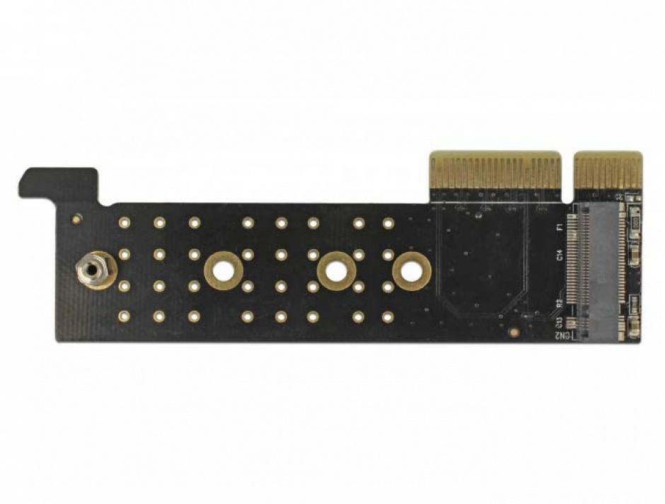 Imagine PCI Express x4 la 1 x NVMe M.2 Key M pentru Server 1U, Delock 89929-3