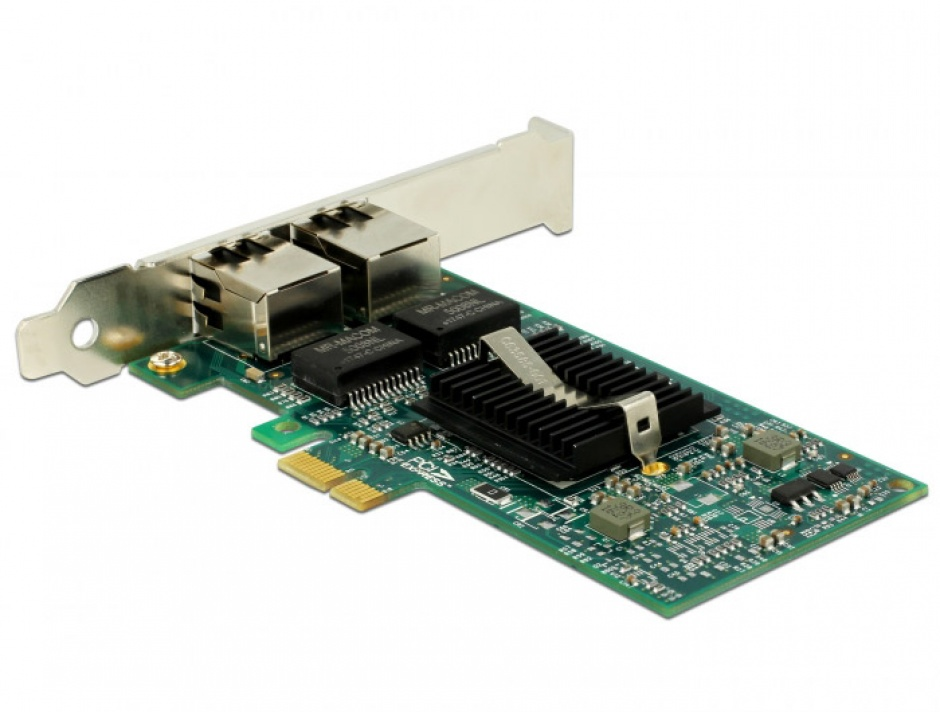 Imagine  PCI Express la 2 x Gigabit LAN chipset Intel 82576, Delock 89944-2
