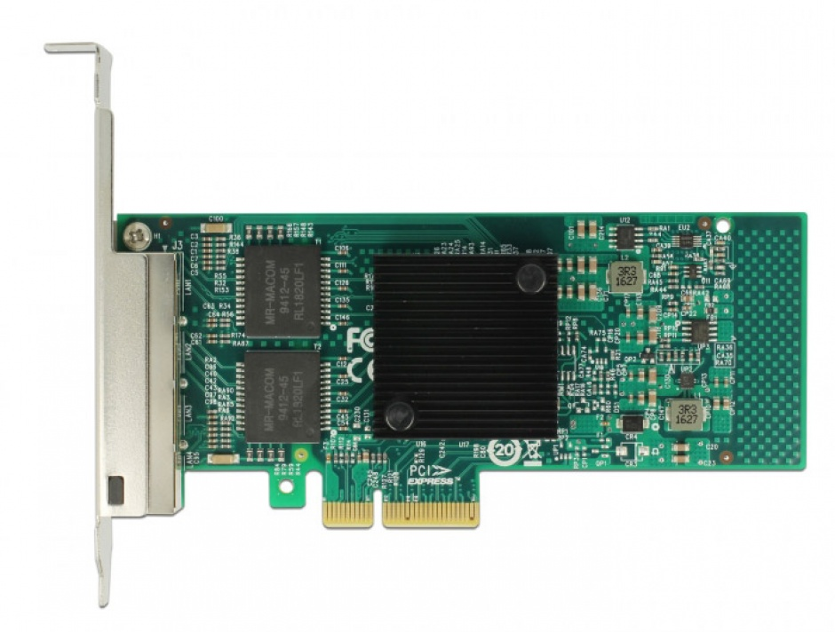 Imagine PCI Express la 4 x Gigabit LAN chipset Intel i350, Delock 89946-3