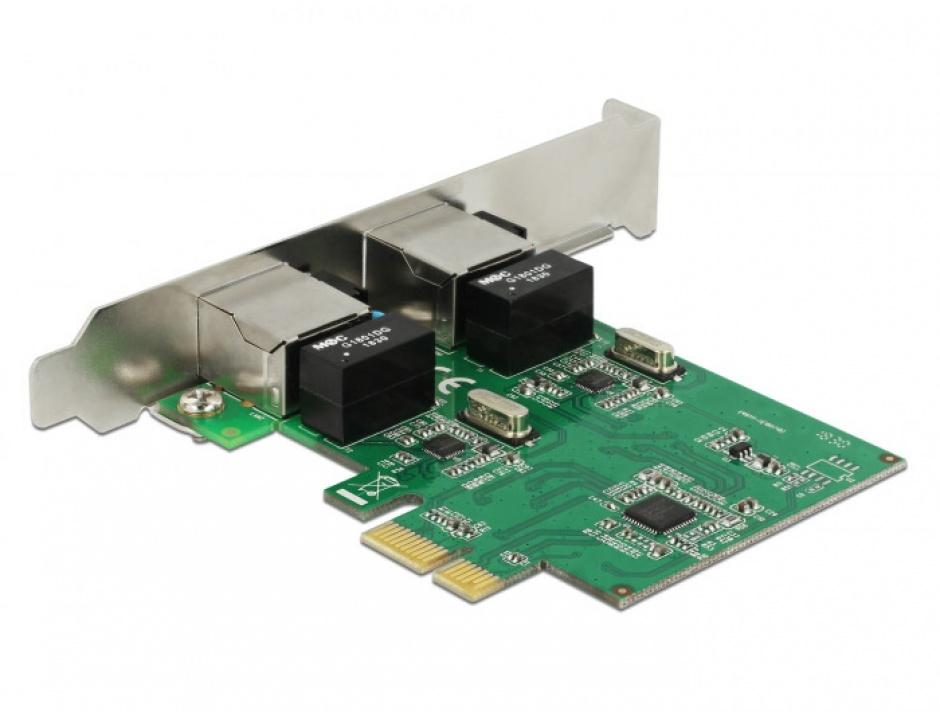 Imagine PCI Express cu 2 x Gigabit LAN, Delock 89999-1