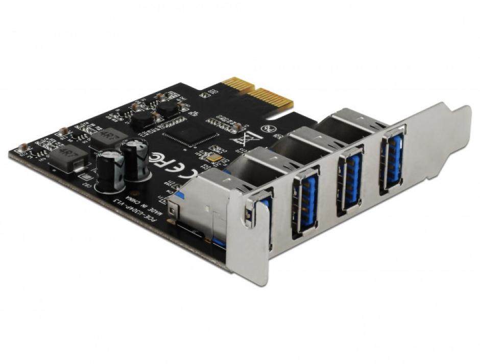 Imagine PCI Express cu 4 porturi USB 3.0 (pentru Mac), Delock 90304-3