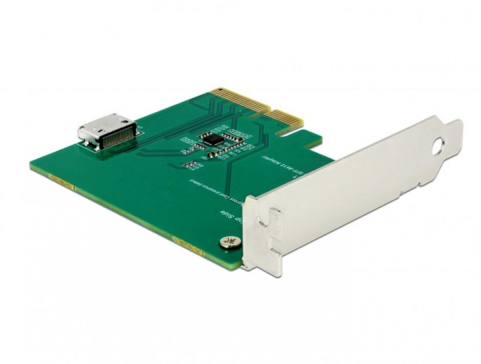Imagine PCI Express la un port intern OCuLink SFF-8612 NVMe 1.2, Delock 90307-1