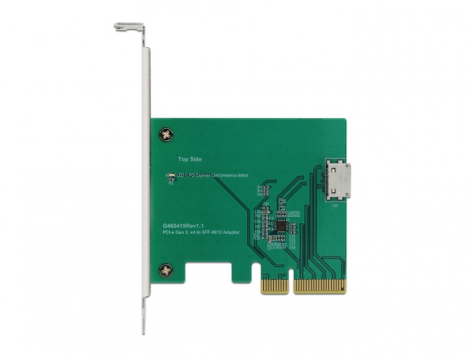 Imagine PCI Express la un port intern OCuLink SFF-8612 NVMe 1.2, Delock 90307-4