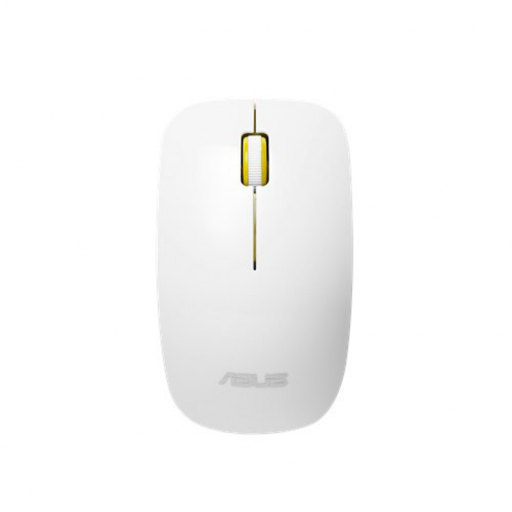 Imagine Mouse optic wireless Glossy White-Yellow, ASUS WT300