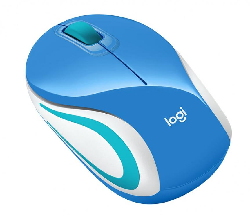 Imagine Mouse wireless M187 Alb/Bleu, Logitech-2