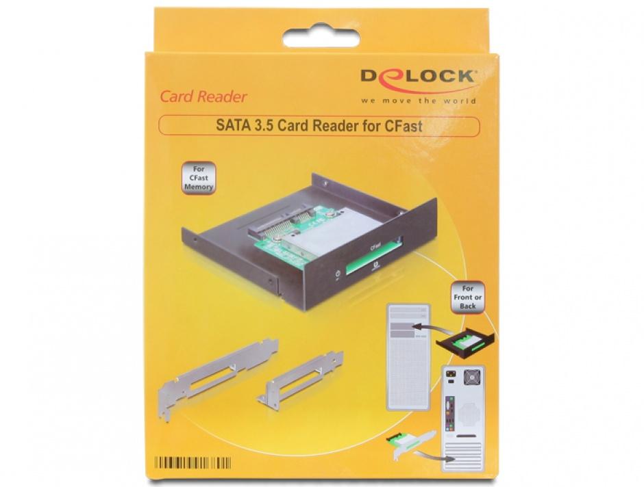 """Imagine Cititor de carduri 3.5"""" pentru CFast, Delock 91680"""