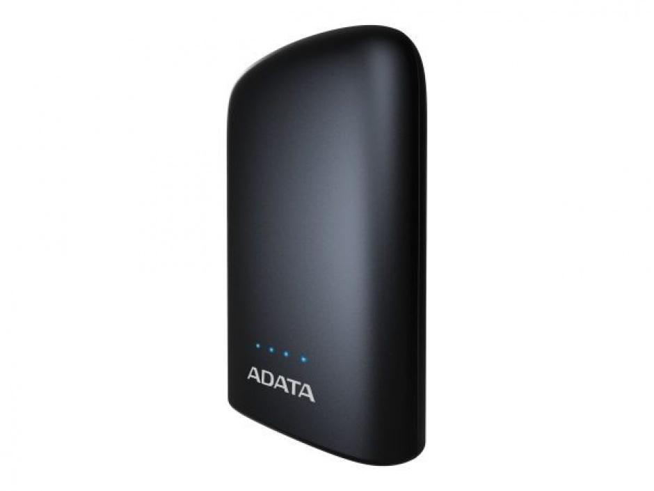 Imagine Power bank 10050mAh 2 x USB Negru, A-DATA P10050V
