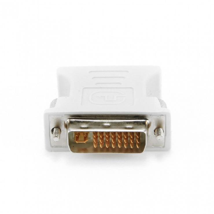 Imagine Adaptor DVI-I Dual Link 24+5 pini la VGA T-M, Gembird A-DVI-VGA