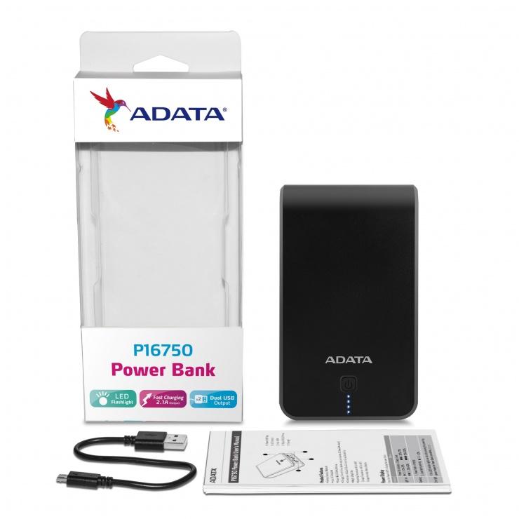Imagine Power bank ADATA P16750 16.750 mAh 2 x USB + lampa LED