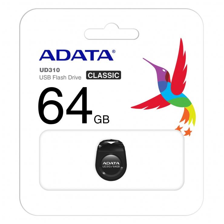 Imagine Stick USB 2.0 nano UD310 64GB Negru, ADATA-2