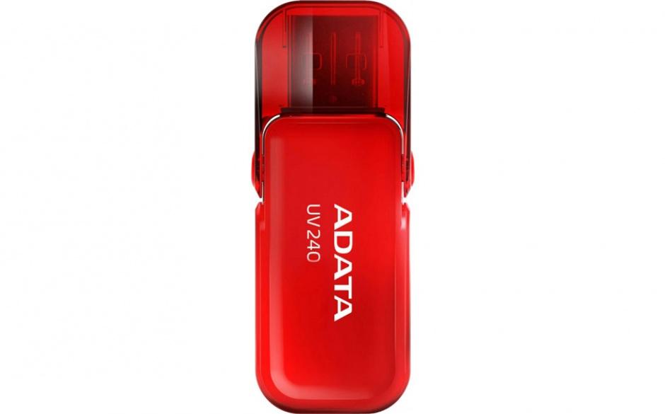 Imagine Stick USB 2.0 cu capac pliabil 16GB UV240 Rosu, ADATA