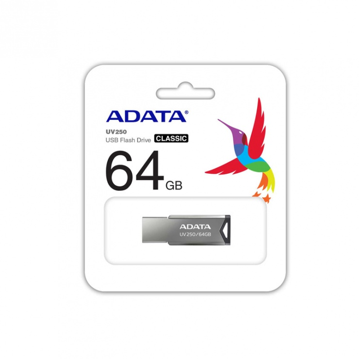 Imagine Stick USB 2.0 64GB Aliaj Silver, ADATA-3