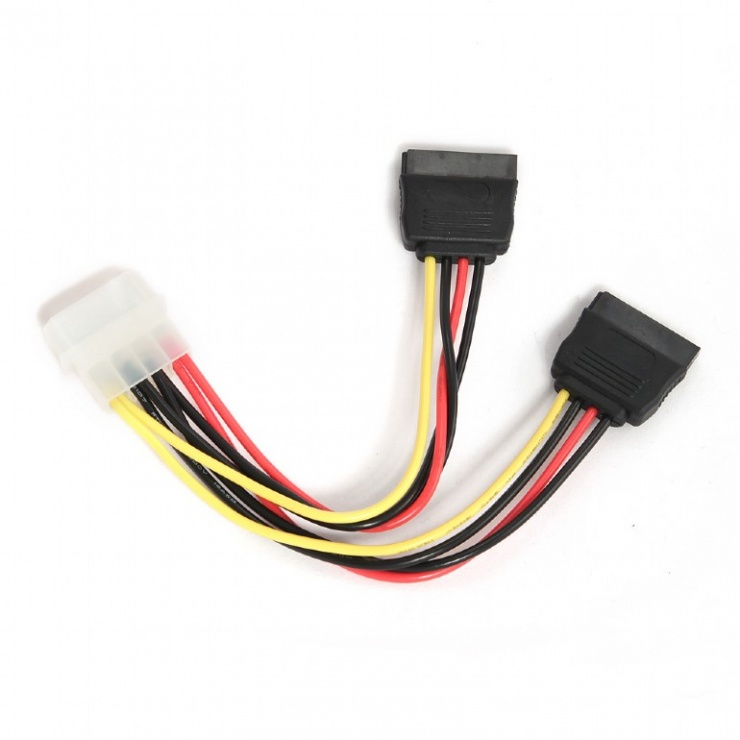 Imagine Cablu alimentare Molex la 2 x SATA, Gembird CC-SATA-PSY-1