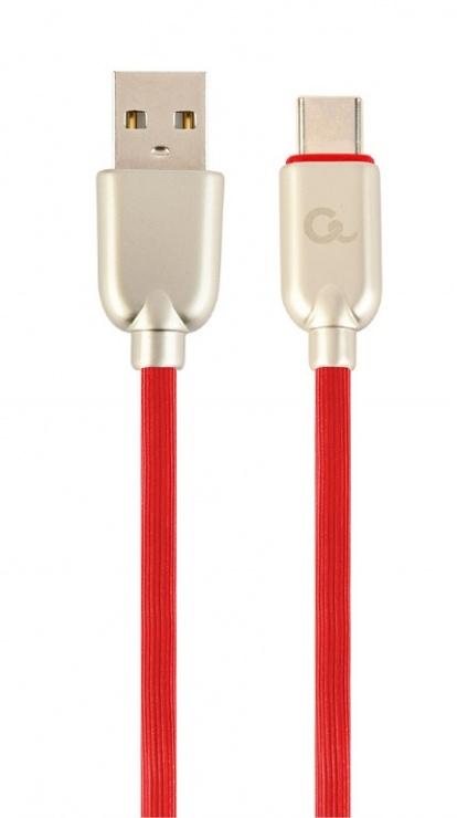 Imagine Cablu USB 2.0 la USB-C Premium 1m Rosu, Gembird CC-USB2R-AMCM-1M-R