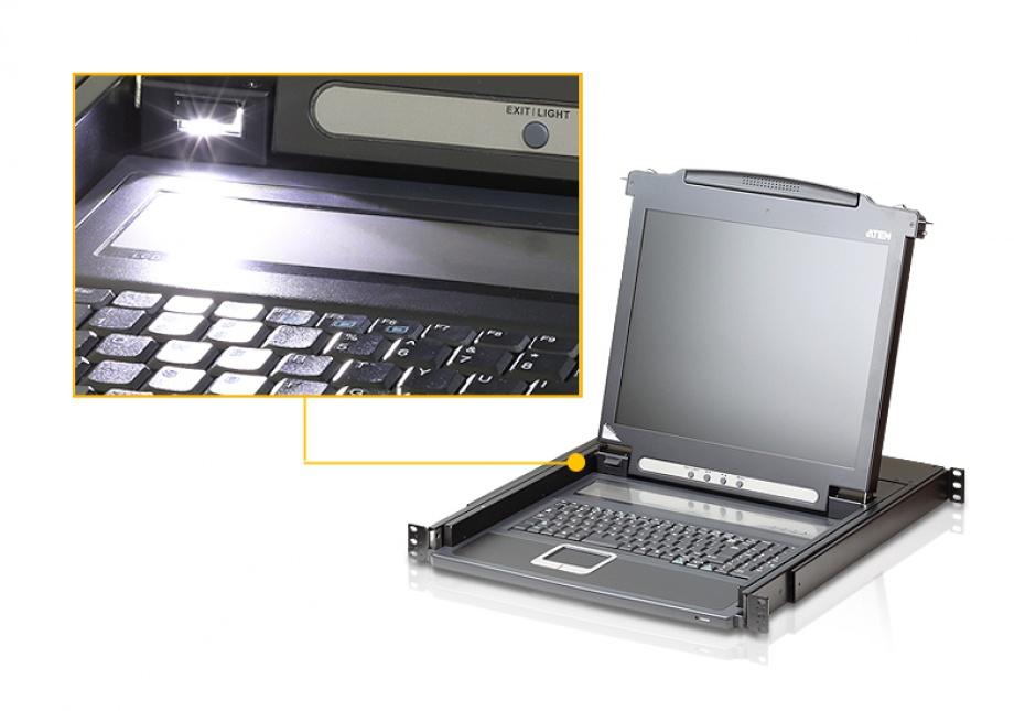 "Imagine Consola pentru KVM LCD 17"" PS/2 VGA, ATEN CL1000M-2"