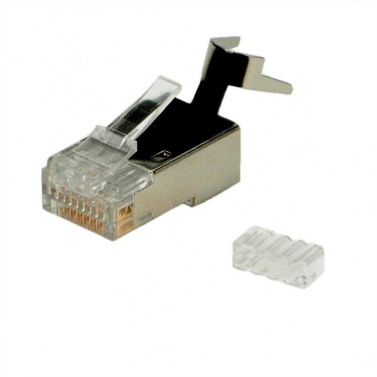 Imagine Set 10 conectori modulari MYCON STP cat 6 fir solid, CON3063-1