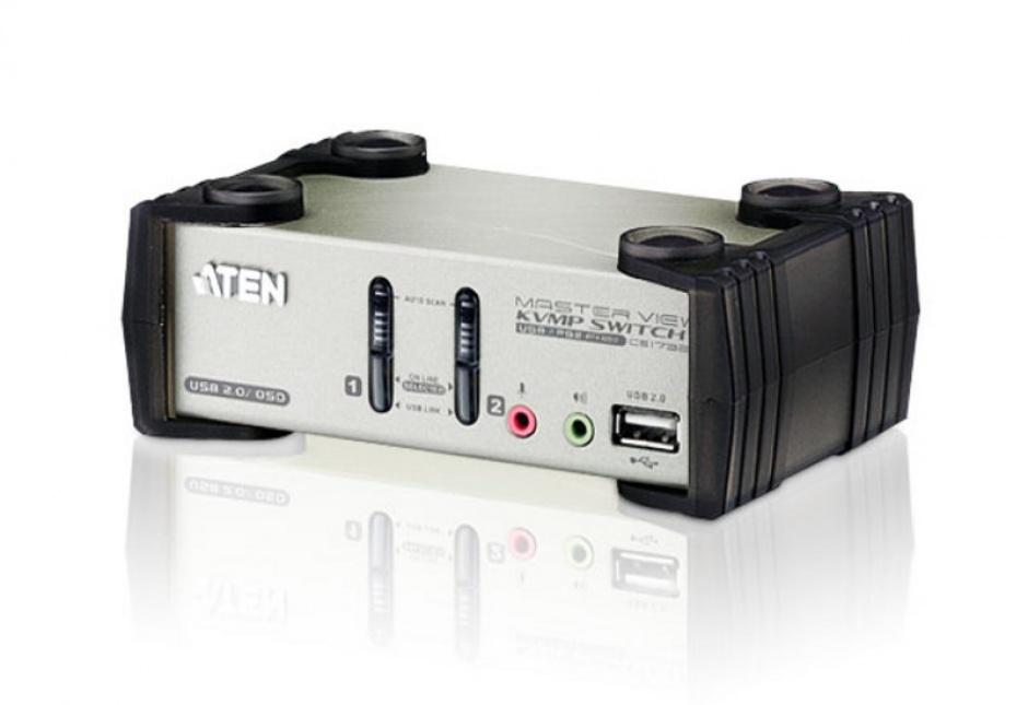 Imagine Distribuitor KVMP 2 porturi PS/2-USB cu OSD, ATEN CS1732B