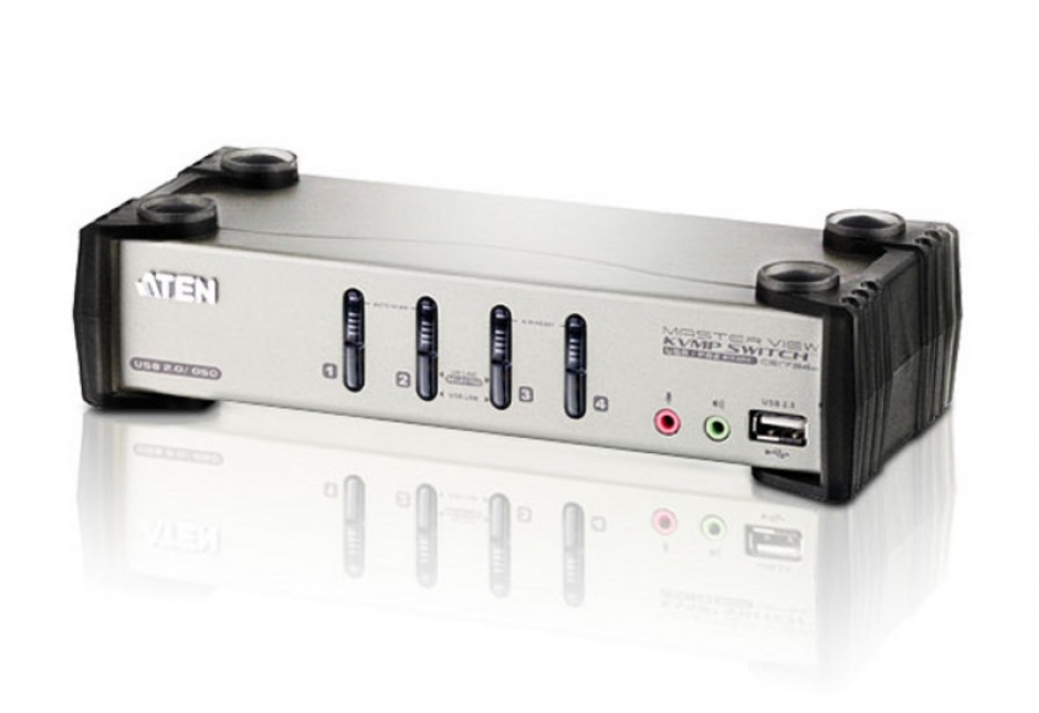Imagine Distribuitor KVMP 4 porturi PS/2-USB cu OSD, ATEN CS1734B