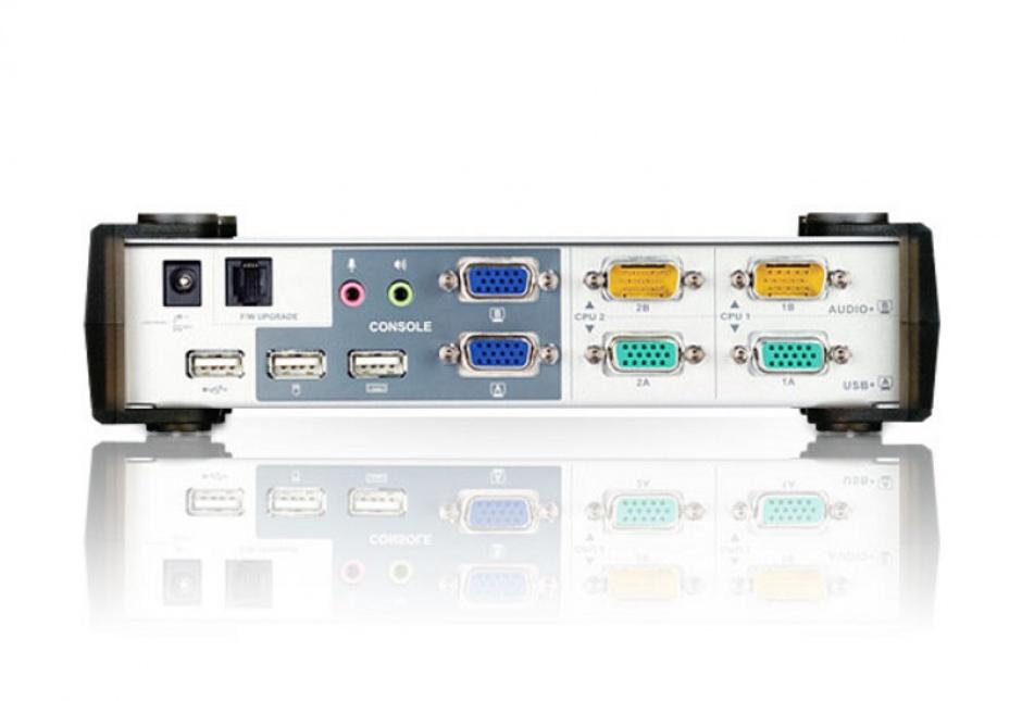 Imagine Distribuitor KVMP USB VGA Dual Display 2 porturi, ATEN CS1742-2