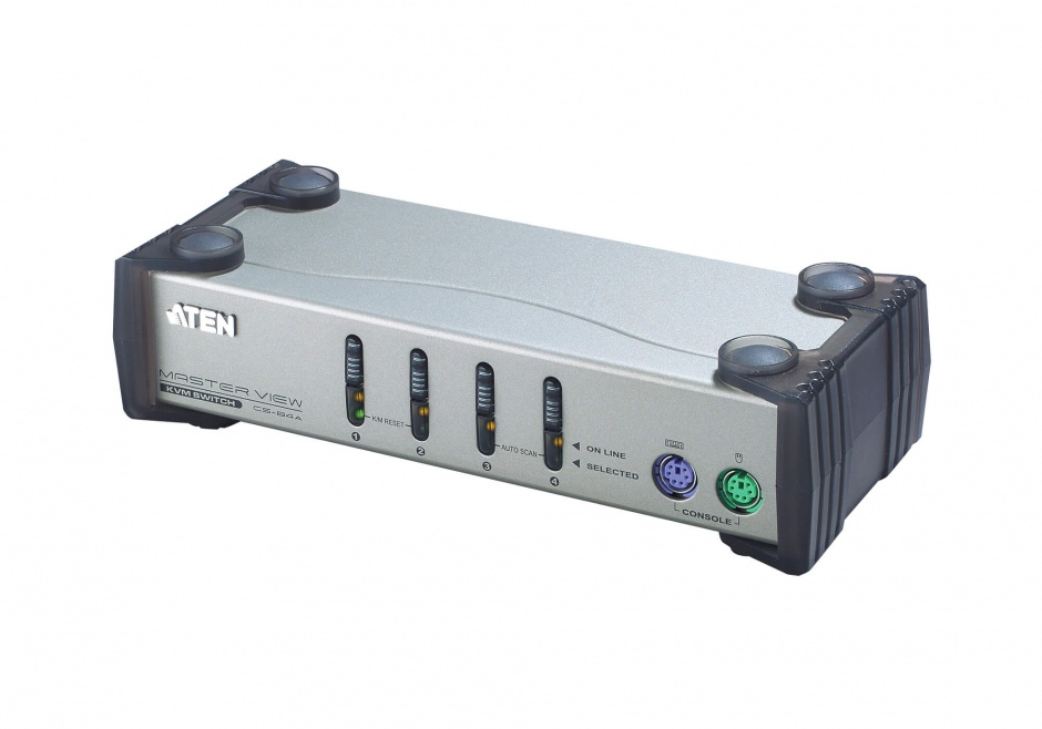 Imagine Distribuitor KVM Digital PS/2 VGA 4 porturi, Aten CS84A