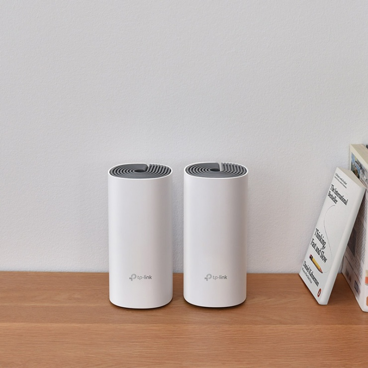Imagine Sistem Wi-Fi Mesh pentru intreaga casa, TP-LINK Deco E4(2-pack)-2