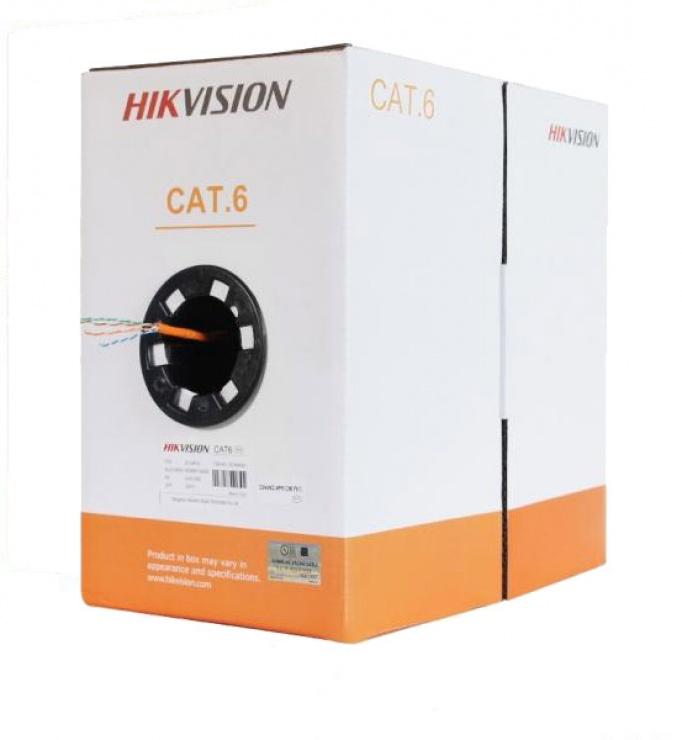 Imagine Rola cablu de retea UTP cat 6 350m Alb, Hikvision DS-1LN6-UU/W