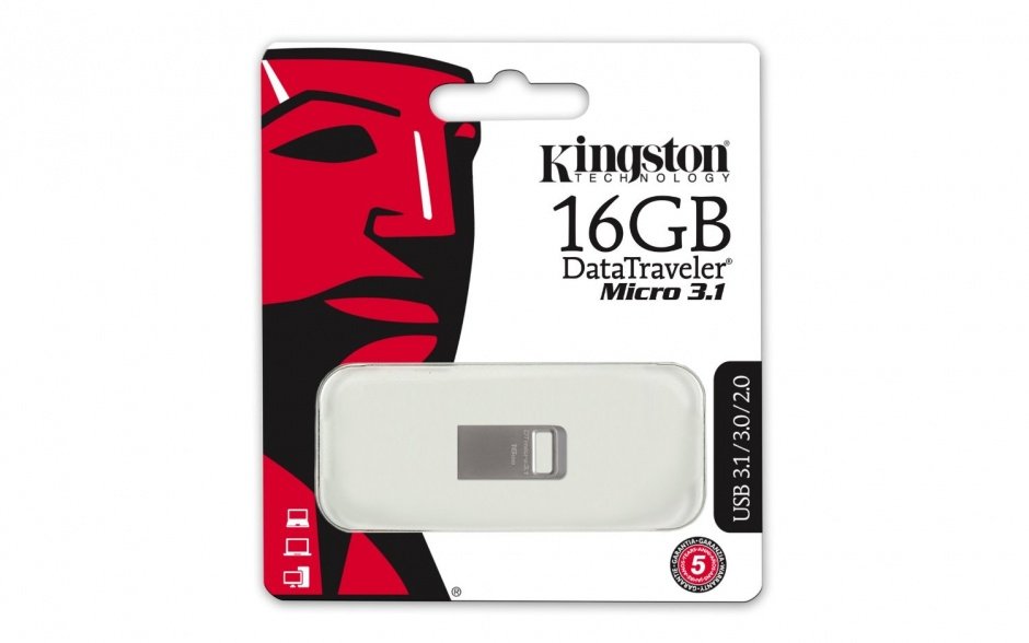 Imagine Stick DataTraveler Micro 16GB USB 3.1/3.0, Metal, Kingston DTMC3/16GB-1