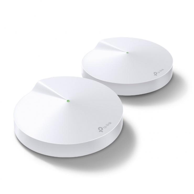 Imagine AC1300 Sistem Mesh Wi-Fi Gigabit pentru inteaga casa, TP-LINK Deco M5(2-pack)
