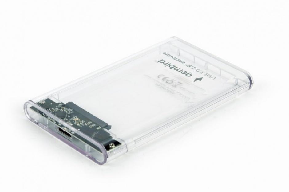 "Imagine Rack extern 2.5"" USB 3.0 la SATA 9.5mm HDD Transparent, Gembird EE2-U3S9-6"