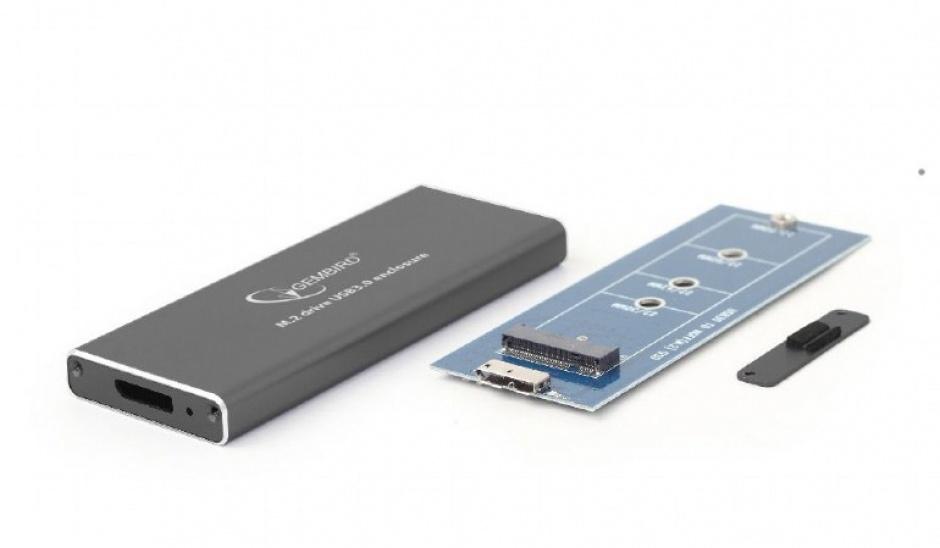Imagine Rack extern USB 3.1 pentru SSD M.2 Negru, Gembird EE2280-U3C-01-1