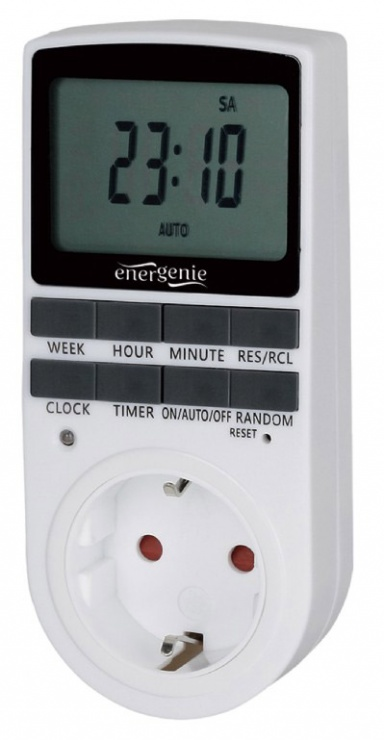 Imagine Priza programabila cu timer 16A LCD, Gembird EG-SST-01