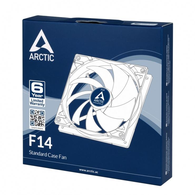 Imagine Ventilator pentru carcasa 140mm low noise FD bearing, Arctic F14