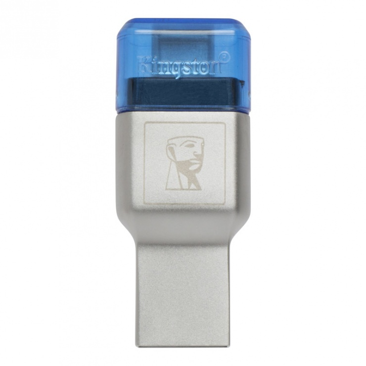 Imagine Cititor de carduri USB 3.1-C la microSD/SDHC/SDXC UHS-I, Kingston FCR-ML3C