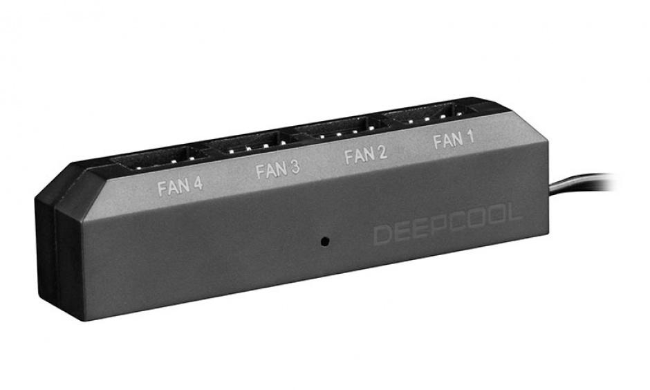 Imagine Adaptor (HUB) 4 pini la 4 x ventilator 3/4 pini PWM, Deepcool FH-04