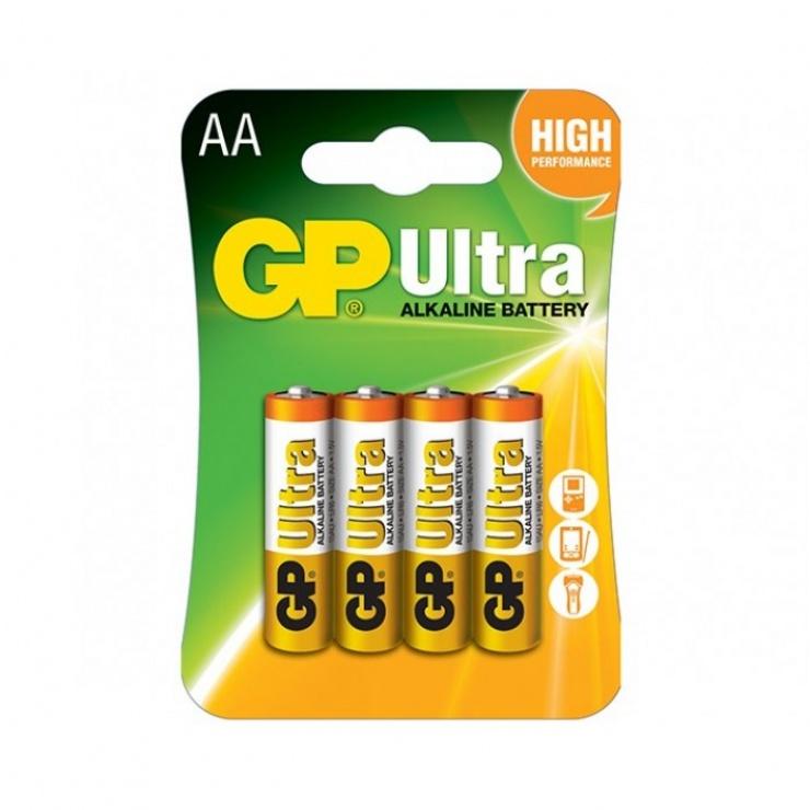 Imagine GP Baterie Ultra Alcalina R6 AA 4buc GP15AUP-2UE2
