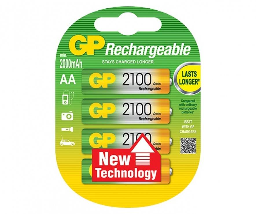 Imagine Acumulatori AA (R6) 2100mAh 4 buc, GP Batteries