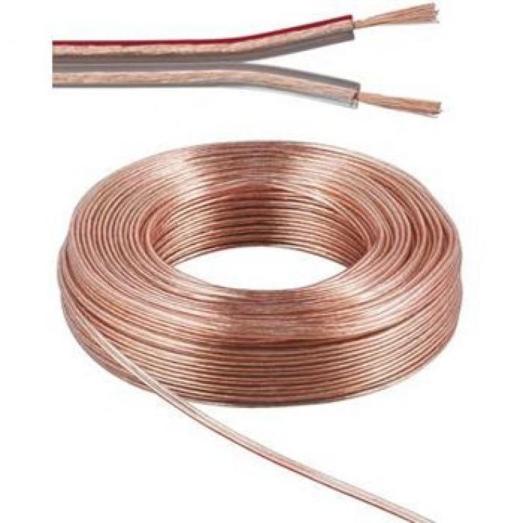 Imagine Rola cablu pentru difuzor 2 x 0,75mm 10m
