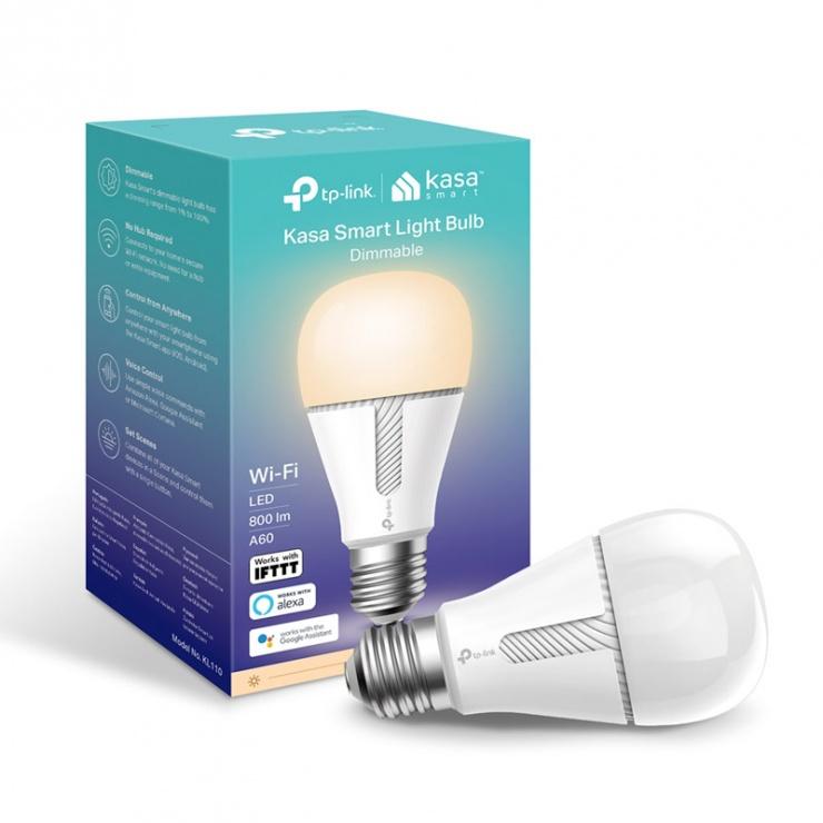 Imagine Bec inteligent Kasa Smart cu intensitate luminoasa reglabila, TP-LINK KL110-5