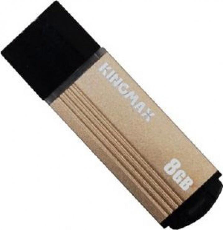 Imagine Stick USB 2.0 8GB MA-06 compact aliaj aluminiu Gold, Kingmax