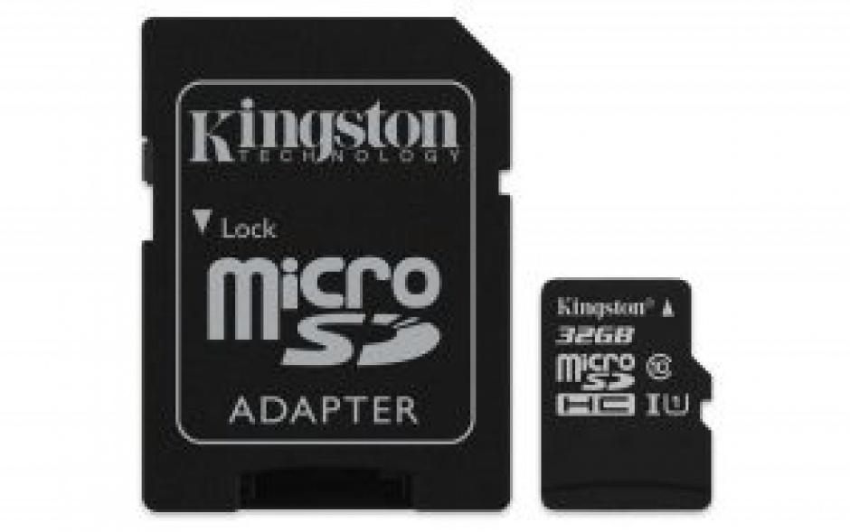 Imagine Card de memorie micro SDHC 32GB Clasa 10 + adaptor SD, Kingmax KM-PS04-32GB