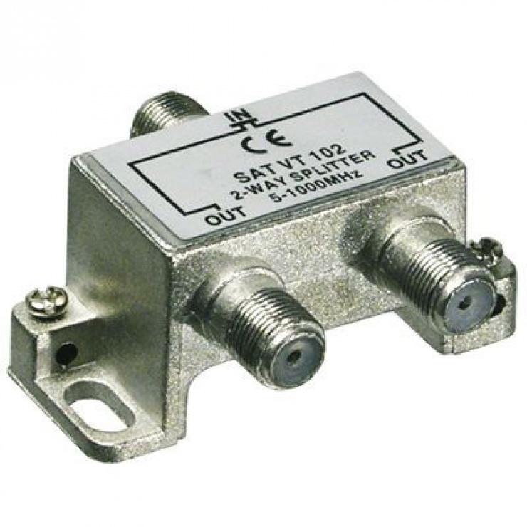 Imagine Splitter coaxial (antena tv) 2 porturi 5-1000 MHz